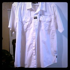XL White Mens SoythPole Button Down